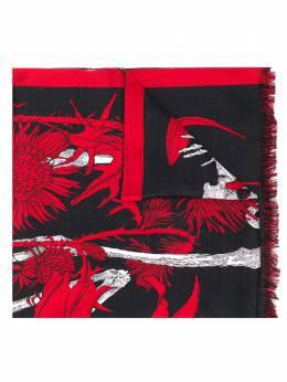 Alexander McQueen floral silhouette skeleton scarf 6251244C59Q