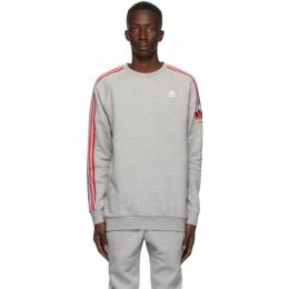 Adidas Originals Grey adiColor 3D Trefoil Crewneck Sweater GE0805