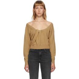 Alexander Wang Brown Draped Neck Pullover Sweater 1KC2201003