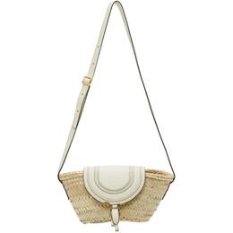 Chloe Beige Raffia Small Marcie Basket Bag CHC20US829C97
