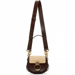 Chloe Brown and Beige Small Tess Bag CHC20AS153D04