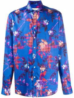 Etro рубашка с цветочным принтом 163765730