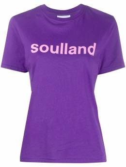 Soulland футболка Gudrun с логотипом GUDRUN