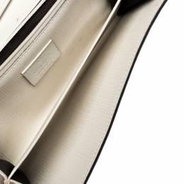 Gucci White Micro GG Supreme Canvas Neon Stars Continental Wallet 303121