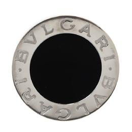 Bvlgari Onyx Inlay 18K White Gold Circular Ring Size 52 302624