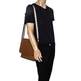 Coach Tan Leather Sullivan Messenger Flap Bag 303173