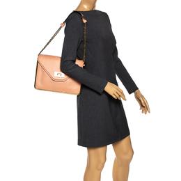 Chloe Peach Leather Medium Sally Shoulder Bag 303026