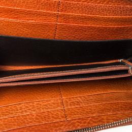 Gucci Beige/Orange GG Canvas and Leather Tassel Zip-around Continental Wallet 302935