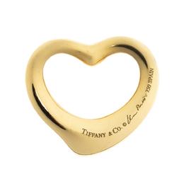 Tiffany & Co. Elsa Peretti Open Heart 18K Yellow Gold Pendant 303082