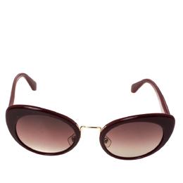 Miu Miu Burgundy Gradient SMU 06T Cateye Sunglasses 303318