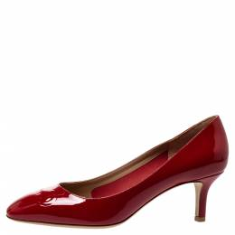 Salvatore Ferragamo Red Patent Leather Pumps Size 38.5 302857
