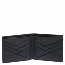 Tod's Black Leather Bifold Wallet Tod's 303098