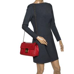 Chloe Orange Leather Medium Elsie Shoulder Bag 303309