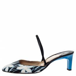 Paul Andrew Multicolor Floral Canvas and Leather Celestine Slingback Sandals Size 40 302268