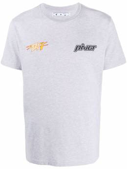 Off-White Thunder Popover relaxed-fit T-shirt OMAA027E20JER0150818