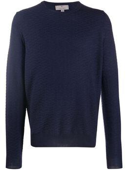 Canali свитер с круглым вырезом и узором C0012MK01065