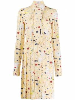 Victoria, Victoria Beckham платье-рубашка с плиссированным подолом 2320WDR001691C