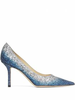 Jimmy Choo Love 85mm glitter effect pumps LOVE85VKG