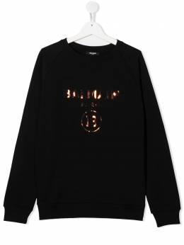 Balmain Kids TEEN metallic effect logo sweatshirt 6N4530NX280