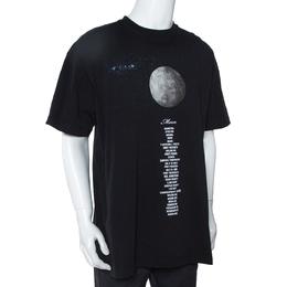 Vetements Black Cotton Zodiac Planet Moon Print Oversized T Shirt S 303350