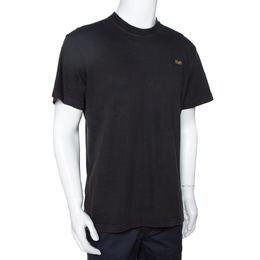 Vetements Charcoal Cotton Staff Print Crew Neck T Shirt L 303346