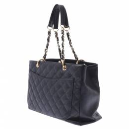 Chanel Black Caviar Leather Grand Shopping Tote Bag 303201