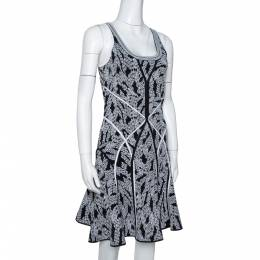 Diane Von Furstenberg Black Panther Lace Jacquard Ilsa Dress M 303179