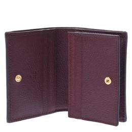 Gucci Bordeaux Ophidia Leather Card Case Wallet 303490