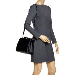 Dolce&Gabbana Black Leather Miss Sicily Top Handle Bag 303387