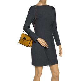 Chloe Mustard Leather Small Sally Shoulder Bag 303184