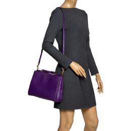 Dolce&Gabbana Purple Leather Miss Sicily Top Handle Bag 303415