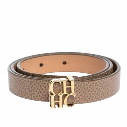 Carolina Herrera Beige Leather CHHC Buckle Belt 80CM Ch Carolina Herrera 303132