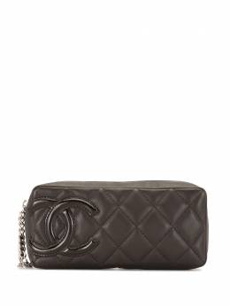 Chanel Pre-Owned стеганый клатч Cambon 2006-го года 10388478