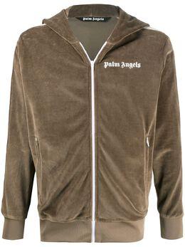 Palm Angels спортивная куртка с капюшоном и логотипом PMBD025E20FAB0096401