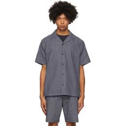 Saturdays Nyc Indigo Stripe Canty Shirt M32030CT04
