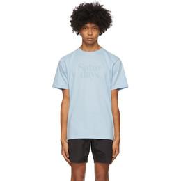 Saturdays Nyc Blue Miller Black T-Shirt M32029PT04