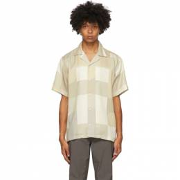Saturdays Nyc Beige and Off-White Geoblock Canty Shirt M32030CT01