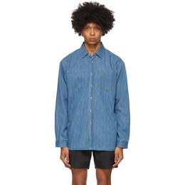 Saturdays Nyc Indigo Denim Kenmare Shirt M22020KE01