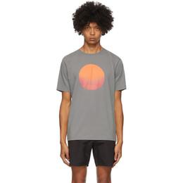 Saturdays Nyc Grey Sunrise Sunset T-Shirt M32029PT11