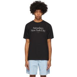 Saturdays Nyc Black Miller Standard T-Shirt AA0029PT01