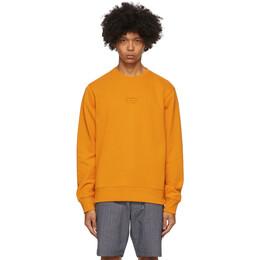 Saturdays Nyc Orange Bowery United Crewneck Sweatshirt M32028BW01