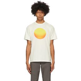 Saturdays Nyc Off-White Sunrise Sunset T-Shirt M32029PT11