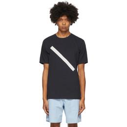 Saturdays Nyc Navy Slash T-Shirt M32029PT07