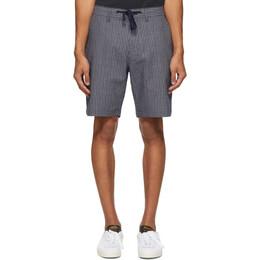 Saturdays Nyc Indigo Stripe Mako Shorts M32021MK01