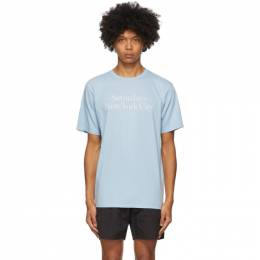 Saturdays Nyc Blue Miller Standard T-Shirt M32029PT05*