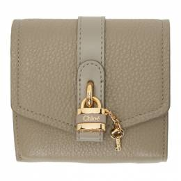 Chloe Grey Aby Square Wallet CHC20SP315B71