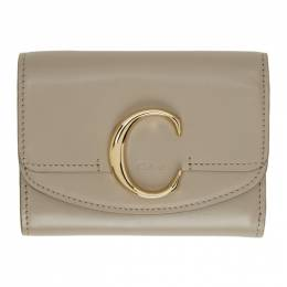 Chloe Grey Small Chloe C Trifold Wallet CHC19WP088A37