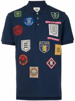 Kent & Curwen рубашка поло с нашивками K4100055I038