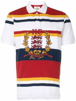 Kent & Curwen полосатая рубашка поло с вышитым логотипом K4100050I075