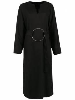 Gloria Coelho платье миди с поясом I19V029